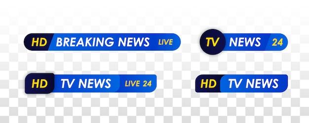 テレビニュースバー。ライブテレビ放送。スポーツニュース。