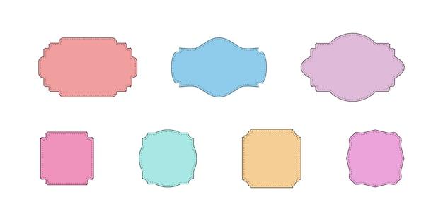 コミックの空のバブル、コレクション色の空の雲。フラットなデザインのテキストのカラフルなフレームのセット。テンプレート色のフレーム。
