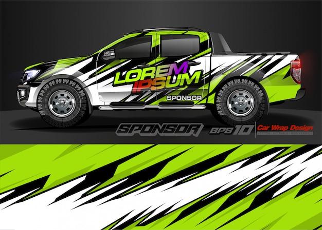 Автомобильный графический комплект. современный абстрактный фон для автомобильной брендинга и автомобильных наклеек.