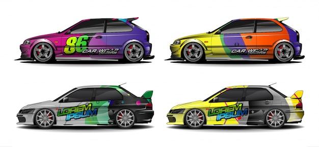 Абстрактный красочный фон для дизайна автомобиля виниловой пленки