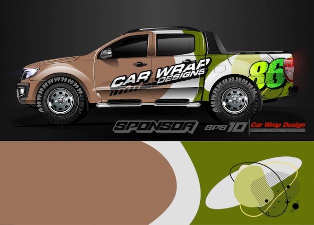 Автомобильная упаковка графических гоночных абстрактных полос и фон для автомобильной упаковки и виниловой наклейки - вектор