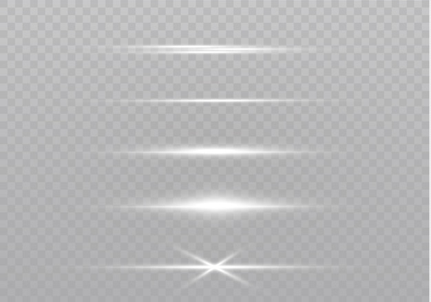 Лазерные лучи, горизонтальные световые лучи. красивые легкие вспышки.