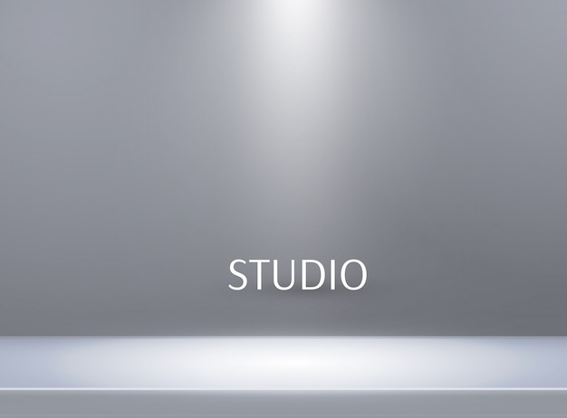 空の明るい色のスタジオテーブルの背景