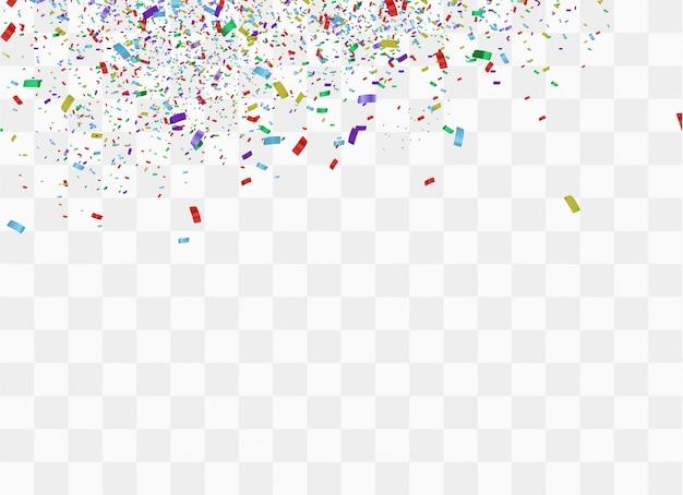 お祝いのカラフルな明るい紙吹雪の背景