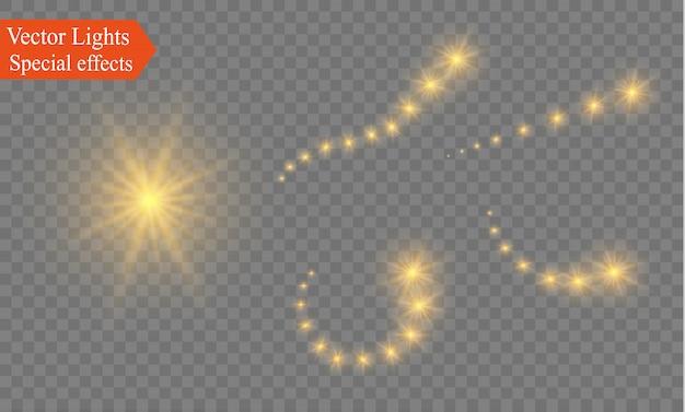 ネオンぼかし曲線の抽象的な半透明の魔法の輝きスタートレイルライト効果は、シュートをぼかします。きらめく半透明の彗星ボケ。