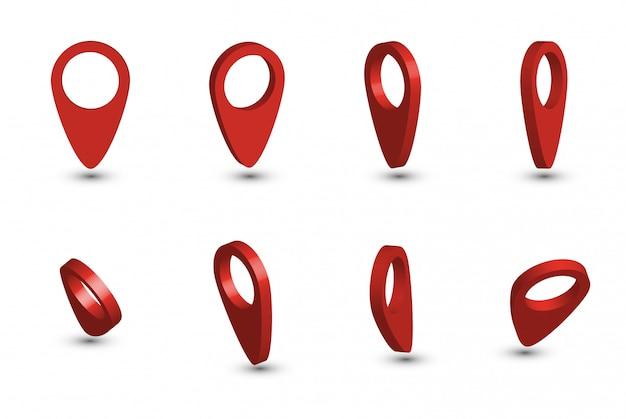 赤いマップポインターコレクション