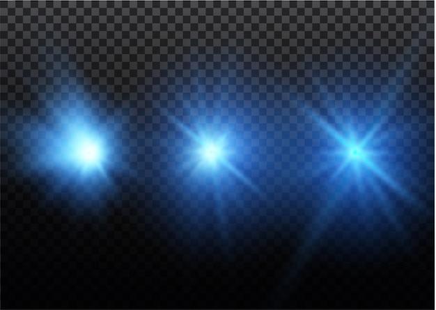 ライトニングマジックと明るいライトエフェクトのセット。図。放電電流。充電電流。自然現象。エネルギー効果の図。明るい光のフレアと火花。