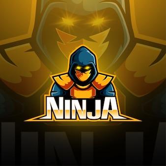 Дизайн логотипа талисмана ниндзя киберспорта