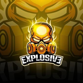 Взрывной дизайн логотипа талисмана киберспорта