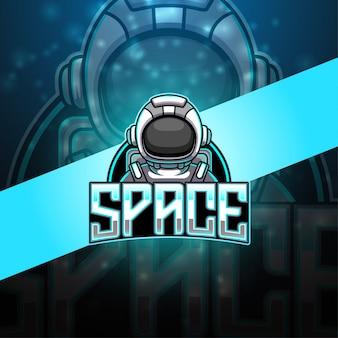 Астронавт киберспортивный талисман логотип