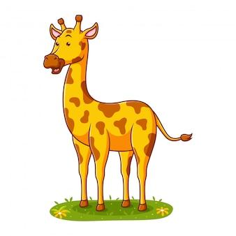 Милый мультфильм жирафа иллюстрации