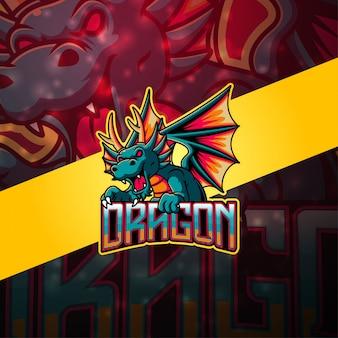 Дракон киберспорт дизайн логотипа талисмана