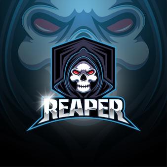 Жнец киберспорт талисман логотип