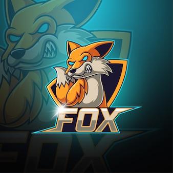 Фокс эспорт талисман логотип