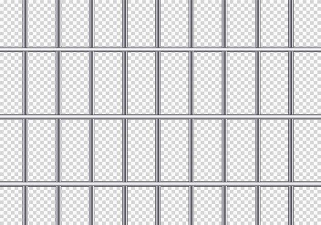現実的な金属製の刑務所グリル。鉄の刑務所の独房。