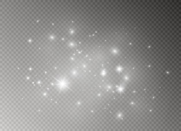 火花と星が輝く特別な光の効果。
