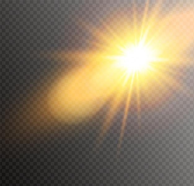 Солнечный свет полупрозрачный. размытие в свете сияния.