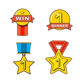 Золотая награда и трофей за чемпионство.