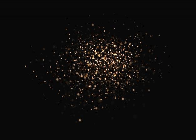 金色の火花と金色の星が特別な光の効果を輝きます。