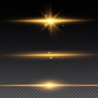 Желтый светящийся свет взрывается. сверкающие магические частицы пыли. яркая звезда. прозрачное сияющее солнце, яркая вспышка.
