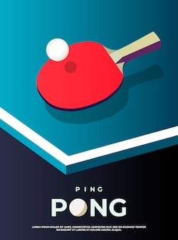 Шаблон для пинг-понга. стол и ракетки для пинг-понга