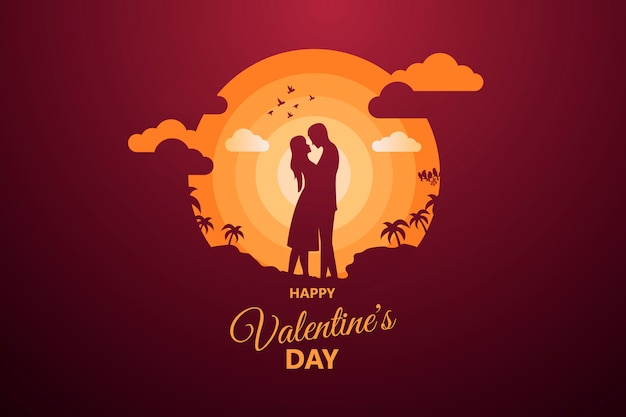 幸せなバレンタインデーの抽象的な背景