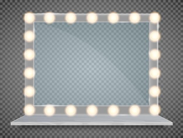 ライトフレーム付きミラー