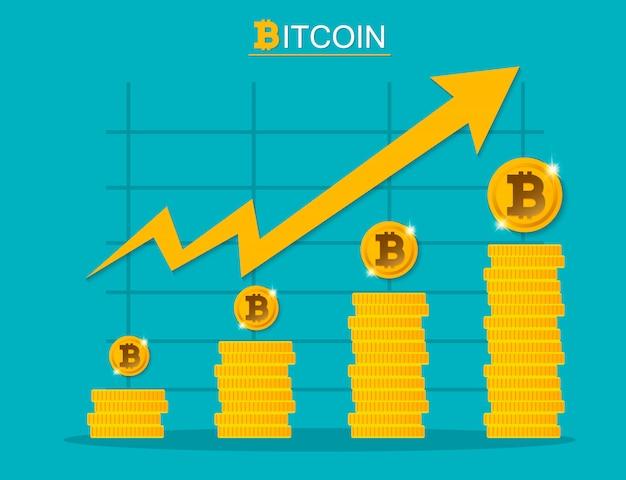 Иллюстрация роста биткойнов