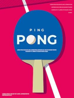 Шаблон плаката для пинг-понга