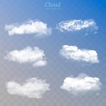 現実的な雲のコレクション。