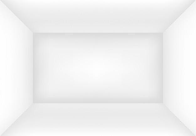 空の白い部屋またはボックス。あなたのデザインのモックアップのインテリアの背景。図。