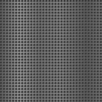 金属格子の背景。灰色のグリッド。スピーカーの格子テクスチャ。穴あきプレート。