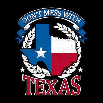 グランジスタイルのテキサスマップの背景