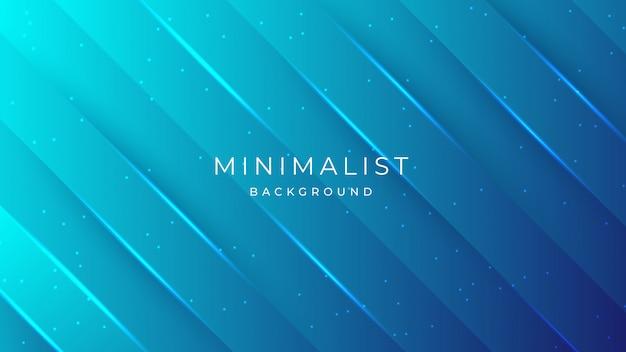 モダンなミニマリストの豪華な抽象的な青い形状プレミアム、