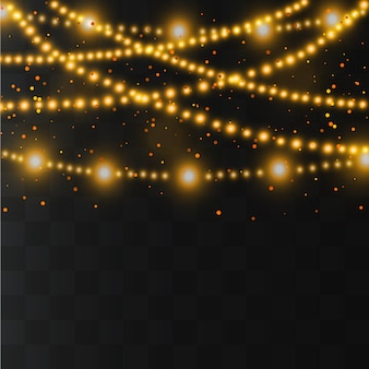 Рождественские огни. гирлянды украшения. светодиодная неоновая лампа.