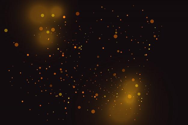Золотые искры и золотые звезды сверкают особым световым эффектом. сверкает на прозрачном фоне.
