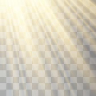 Прозрачный солнечный свет, фонарик, размытие в сиянии.