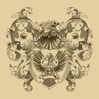 Герб в средневековом стиле.