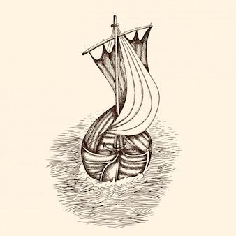 Старый пиратский корабль.
