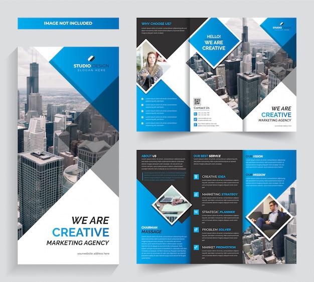 Корпоративный бизнес три раза шаблон брошюры