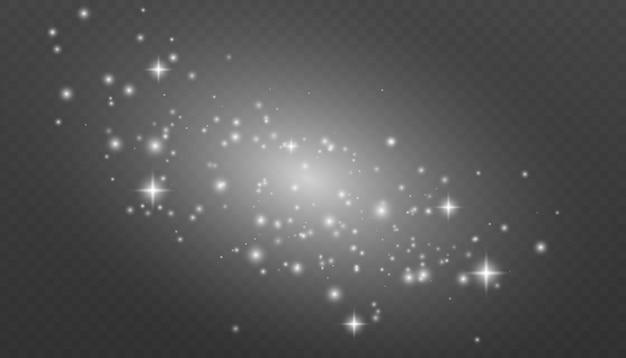 Белые искры и золотые звезды сверкают особым световым эффектом.