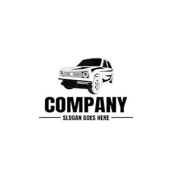 車両のロゴのテンプレート。ビジネスのための車のアイコン。レンタル、修理、店のガレージ。