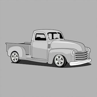 レトロな古典的なトラックを拾う