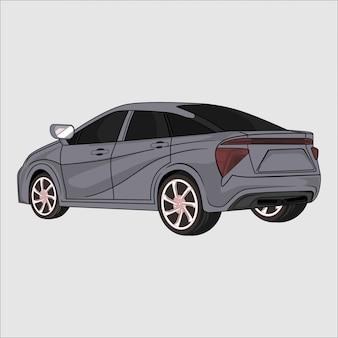 灰色のスポーツカー