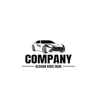 Шаблон логотипа автомобиля. иконка автомобиль. аренда, ремонт, магазин гараж.
