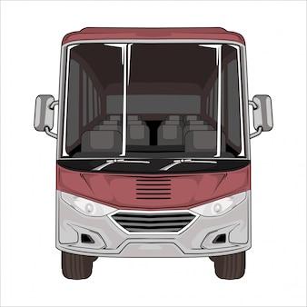 Белый автобус иллюстрации