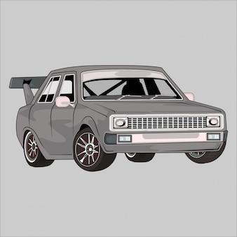 イラスト車クラシックレトロヴィンテージ
