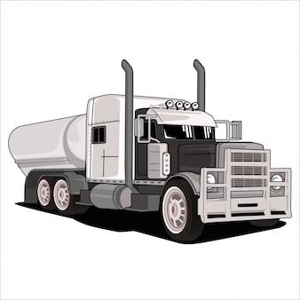 Мультфильм иллюстрация большой грузовик