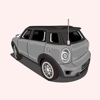 Мультфильм иллюстрация городской автомобиль
