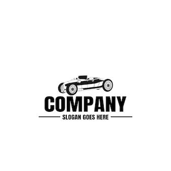 Шаблон логотипа винтажного автомобиля